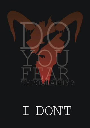 fear: Fear poster Illustration