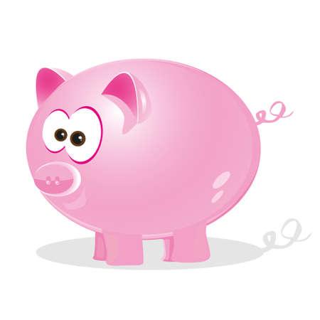 cute pig: Illustration of a cute pig