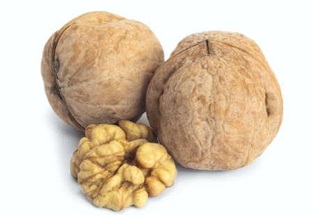 walnut isolated Stock Photo