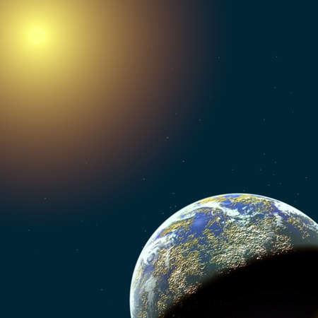 spase and planet illustration illustration