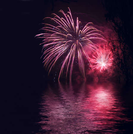 Fireworks as background