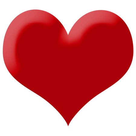 dessin coeur: heart illustration isol� Banque d'images
