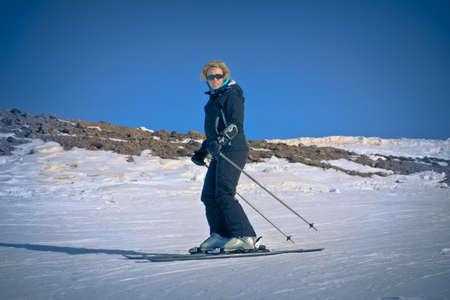 women skier