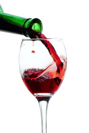 wineglass red wine bottle Stock Photo
