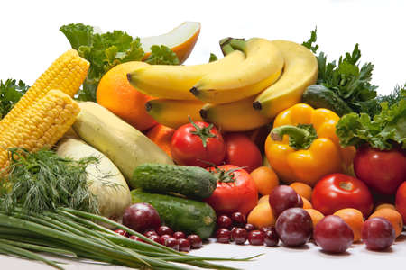 group of vegetables and fruits  photo