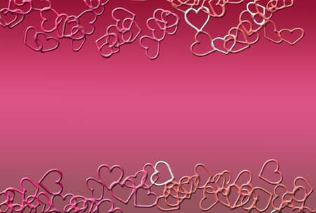 hearts as background for Valentine day Stock Photo