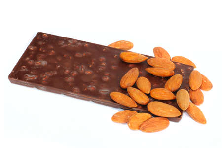 chocolate and nuts Stock Photo