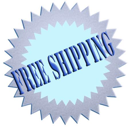 tampon: Tampon web stamp �Free shipping�  Stock Photo