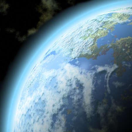 illustration of planet  Stock Photo