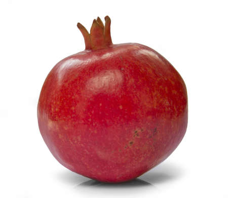 punica granatum: pomegranate  isolated Stock Photo