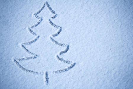 Kerstboom sneeuw beeld