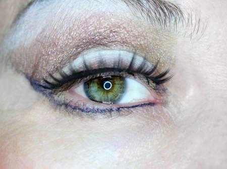 female eye women macro Stock Photo