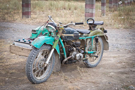 rusty  motorcycle
