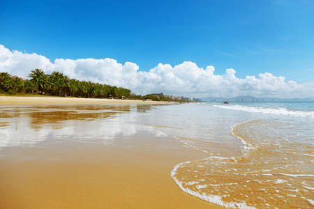 spiaggia paesaggio Cina, Hainan, Sanya