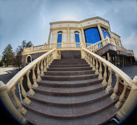 balustrade: balustrade  entrance