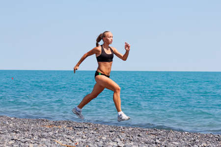 women  jogging running photo