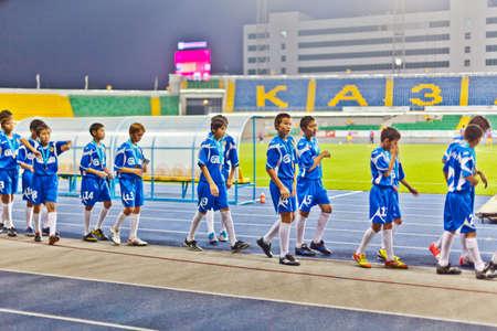futbol infantil: ni�os equipo de f�tbol Editorial