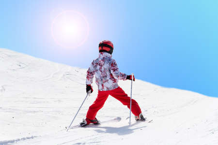 Child skiing  photo