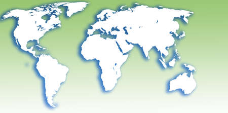 map world illustration Stock Photo
