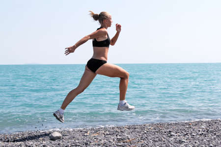 athletic sports woman Stock Photo
