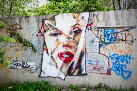 graffiti Marilyn Monroe Editoriali