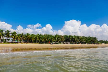 landscape beach tropical nature sea coastline Stock Photo