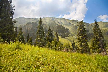 nature landscape mountains  Central Asia   photo