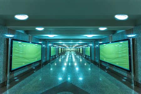 Modern walkway interior  Editorial