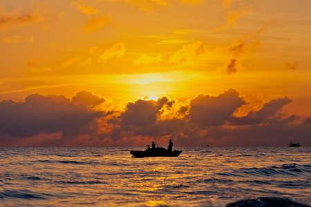 Bel tramonto sul mare Archivio Fotografico