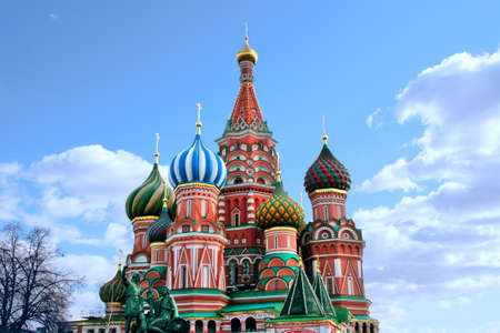Moscow  St. Basils Cathedral kremlin  church
