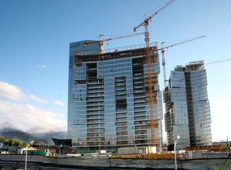 construction skyscraper building