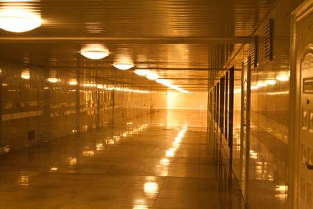 tunnel  walkway subway station corridor