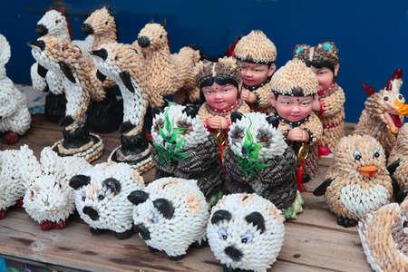 plaything: Seashell souvenir hand-made in a showcase