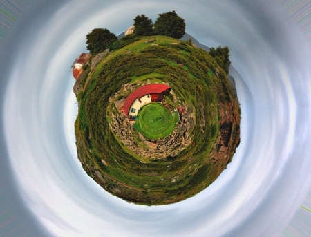 earth 3d abstract planet