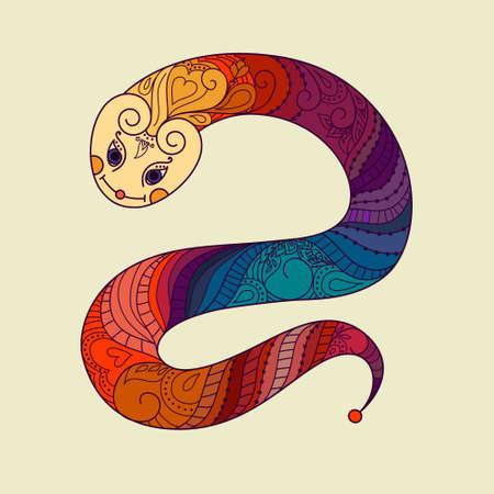 Happy new year  2013  Snake year  Vector  Chinese horoscope   Vector