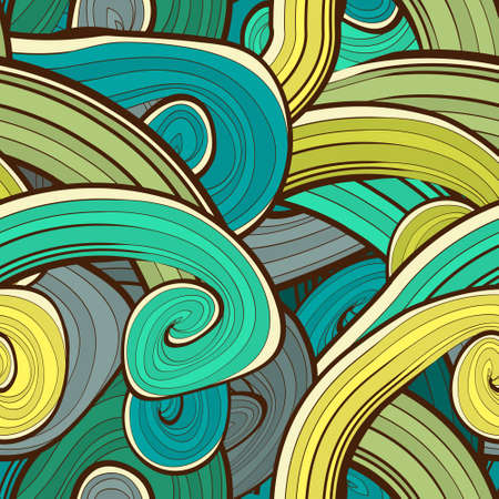 waves pattern: Seamless abstract hand drawn waves pattern.