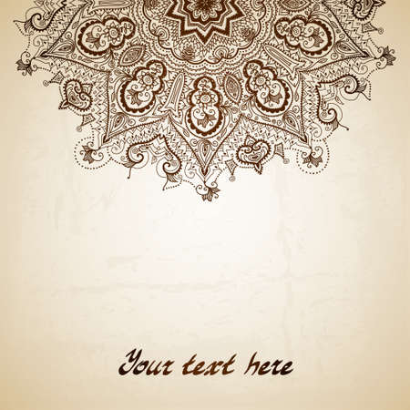 Vintage pattern. Disegnata a mano astratto. Bandiera decorativa retrò. Archivio Fotografico - 27292860
