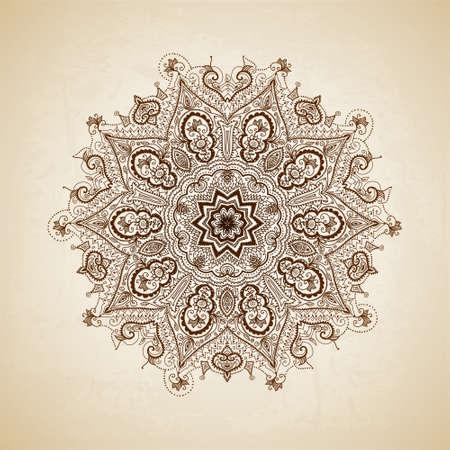 indische muster: Vintage-Muster. Hand gezeichnet abstrakten Hintergrund. Dekorative retro Banner. Illustration