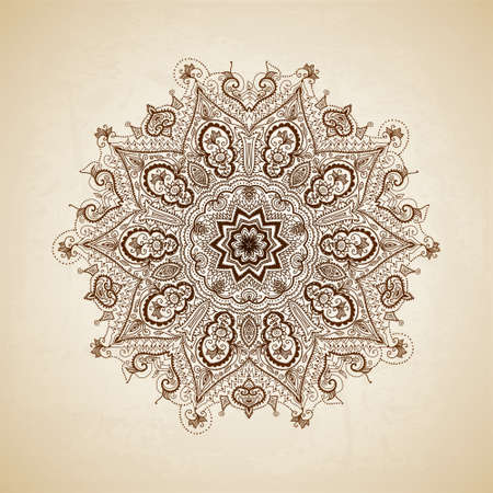 islamic pattern: Vintage pattern. Hand drawn abstract background. Decorative retro banner.