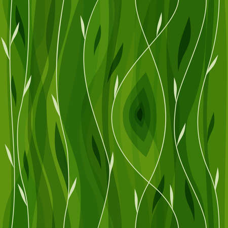 Vector leaf seamless pattern. Abstract nature design or abstract seamless pattern. Floral background. Summer background. Green paper. Retro design. Spring theme. Beautiful green background.