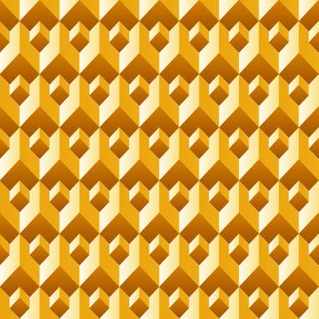 3d abstract gold texture, geometric seamless pattern, vector. Vector