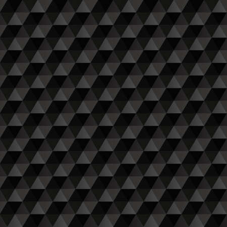 3d black abstract background. Geometric seamless pattern. Vector