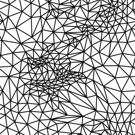 Vector abstract black and white seamless background from triangles. Vector