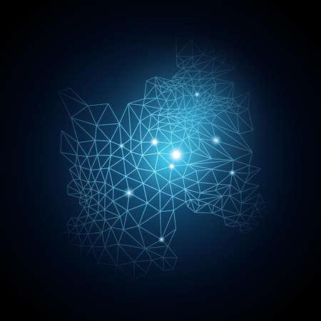 Vecteur de bleu abstrait