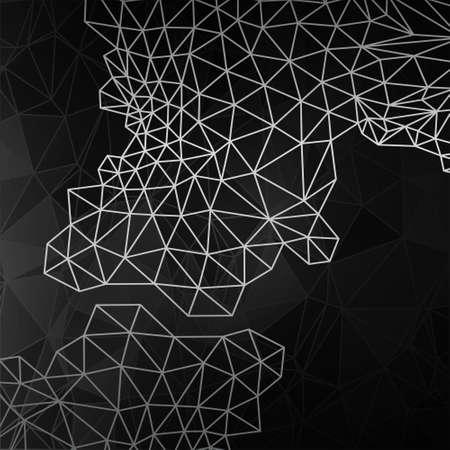 abstract vector: Vector design concept. Zwart-wit abstracte vector achtergrond.