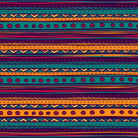 tribales: Vector tribal sin patr�n. Dibujado a mano resumen de antecedentes. Vectores
