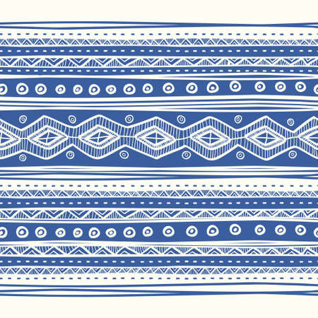 Abstract hand-drawn ethnic pattern, tribal background. Vector pattern.