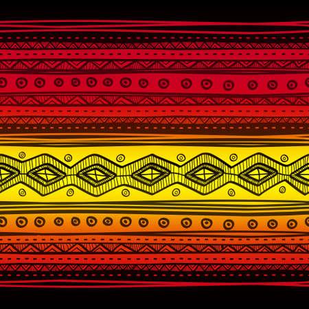 Abstract tribale vector naadloze weefsel patroon. Hand getrokken abstracte achtergrond.
