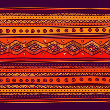 Abstracte handgetekende etno patroon, tribale achtergrond. Patroon kan worden gebruikt voor behang, webpagina achtergrond, anderen. Bright vector tribale textuur. Stock Illustratie