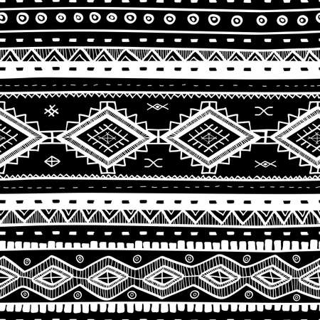Tribal vector seamless background.